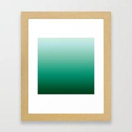 Ombre Teal Green Gradient Pattern Framed Art Print