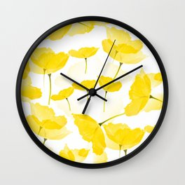 Light Yellow Poppies Spring Summer Mood #decor #society6 #buyart Wall Clock