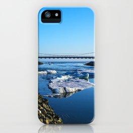 Bridge across the Ice Lagoon Iceland iPhone Case