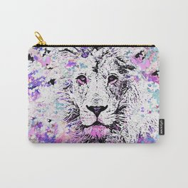LION PINK and WHITE Carry-All Pouch