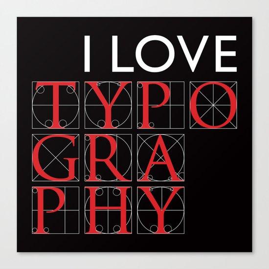 Typography Canvas Print