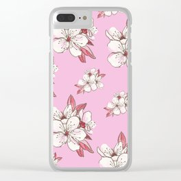X-tra Ordinary Cherry Blossoms Clear iPhone Case