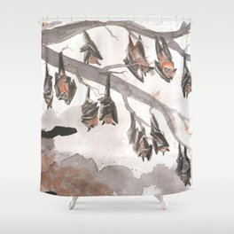 Thirteen Bats Shower Curtain