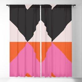 Split X Black & Pink Blackout Curtain