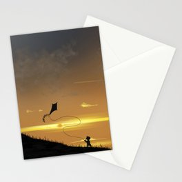 Kite-Flying at Sunset Stationery Cards