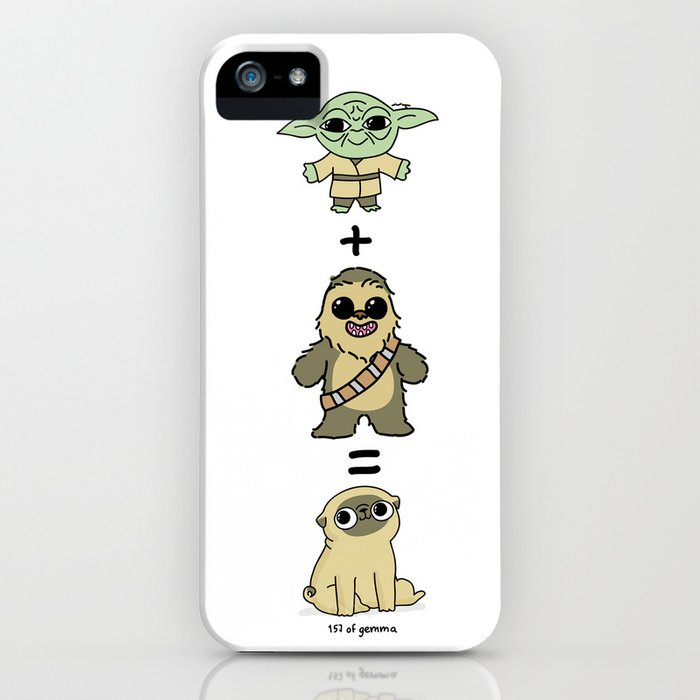 the origin of pugs iphone case