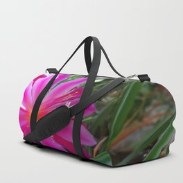 """BLOOMING FUCHSIA PINK """" ORCHID CACTUS"""" FLOWER Duffle Bag"""