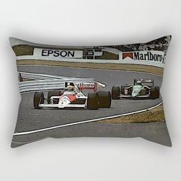 Ayrton Senna Formula 1 Battle Rectangular Pillow