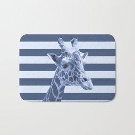 [Animals & Stripes] Blue giraffe Bath Mat