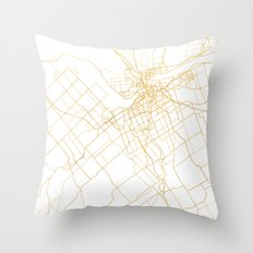 OTTAWA CANADA CITY STREET MAP ART Throw Pillow