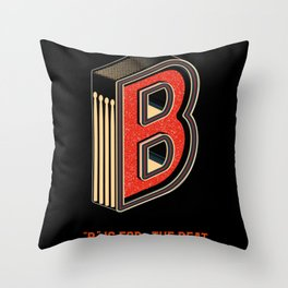 B Is For Beat Throw Pillow