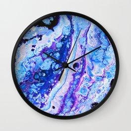 Frigid Depths Abstract Wall Clock