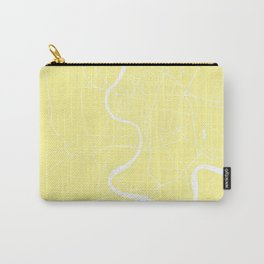 Bangkok Thailand Minimal Street Map - Pastel Yellow and White II Carry-All Pouch