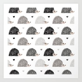 Hedgehog Love Kunstdrucke