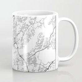 Minimal City Maps - Map Of Chattanooga, Tennessee, United States Coffee Mug