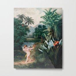 Robert John Thornton - Cupid Inspring Plants with Love Metal Print