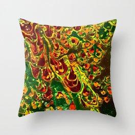 Amber Spill Throw Pillow