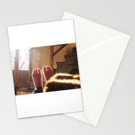 happy feet in the sun light Stationery Cards