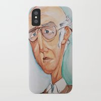 larry david iPhone & iPod Cases featuring King Larry David by Kendall Sudduth
