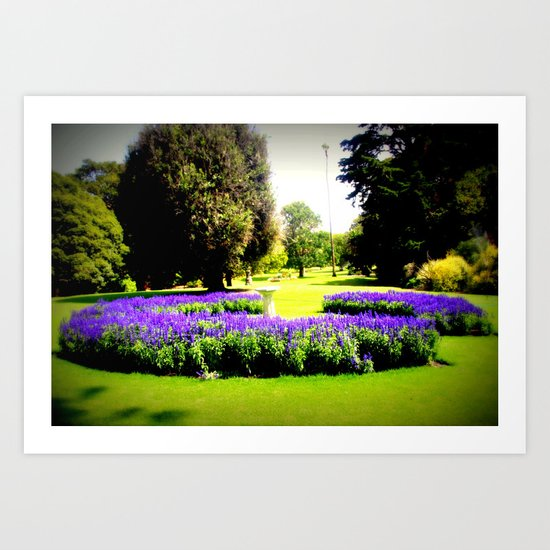 When the World wearies, there is always the Garden! Art Print