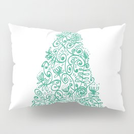 green Christmas tree in New Zealand Pillow Sham