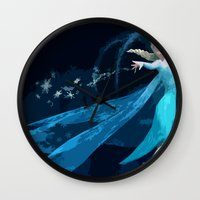 frozen elsa Wall Clocks featuring Elsa | Frozen by EcaJT