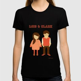 Lois and Clark - Superman The Younger Years - Comic Superhero Illustration Print T-shirt
