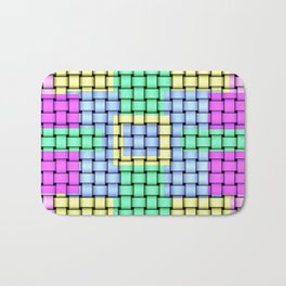 Beautiful Pastel Weave Texture Bath Mat