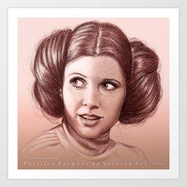 Princess Leia's Portrait Art Print
