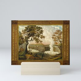 Edward Hicks The Falls of Niagara Mini Art Print