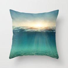 Sea Sunshine Throw Pillow