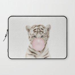 Bubble Gum White Tiger Cub Laptop Sleeve