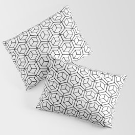 Hand Drawn Hypercube Pillow Sham