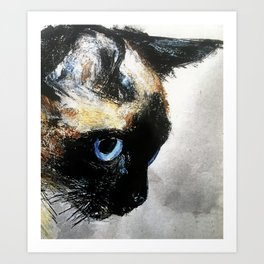 Siamese Cat Right Side Tapestry Art Print