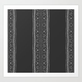 Linework Stripe, Black Art Print