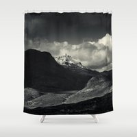 nan lawson Shower Curtains featuring Sgùrr nan Gillean and Loch na Creitheach from Camasunary, Isle of Skye by Ferdinand Bardamu