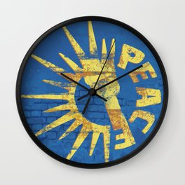 Moar Peace Wall Clock