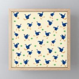 Pukeko swamp hen pattern Framed Mini Art Print