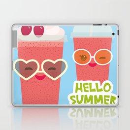 Hello Summer Kawaii cherry smoothie Laptop & iPad Skin