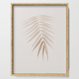 Palm Leaf Finesse #1 #minimal #tropical #decor #art #society6 Serving Tray