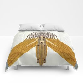 """Art Deco Oriental Design """"Café Foujita"""" Comforters"""