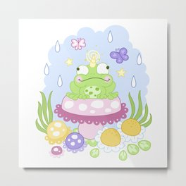 The Majestic Magical Horn Toad Metal Print