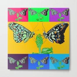 Butterflies are Free Metal Print
