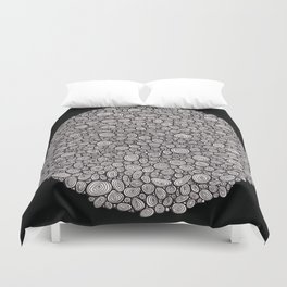 Black and white abstract Duvet Cover