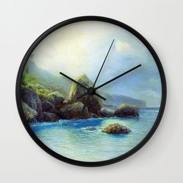 Coast Of The Sea 1899 By Lev Lagorio | Reproduction | Russian Romanticism Painter Wall Clock