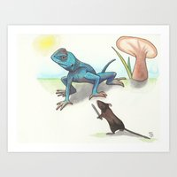 The Mouse And His 'Dragon' Art Print