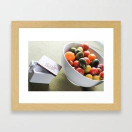 Tomatoes and Salt Framed Art Print