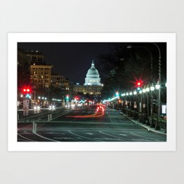 DC At Night Art Print