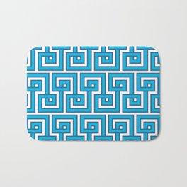 Greek Key - Turquoise Bath Mat