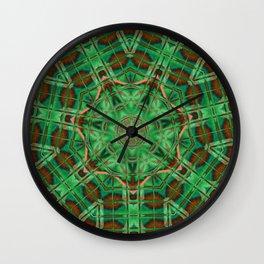 Nausea Neon Brick Mandala Wall Clock